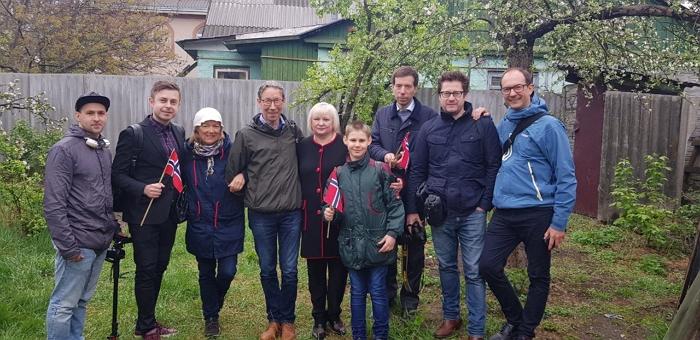 Snorre has met his relatives in Kiev, Ukraine